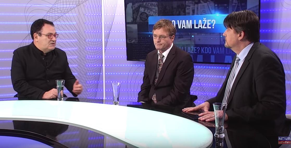 Miloš Čirič, Peter Jančič in voditelj oddaje Kdo laže? Boris Tomašič.