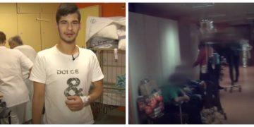 Pacient iz Kosova in ena izmed katastrofalnih slik na gastroenterloški kliniki. (Foto: Tednik RTV SLO)