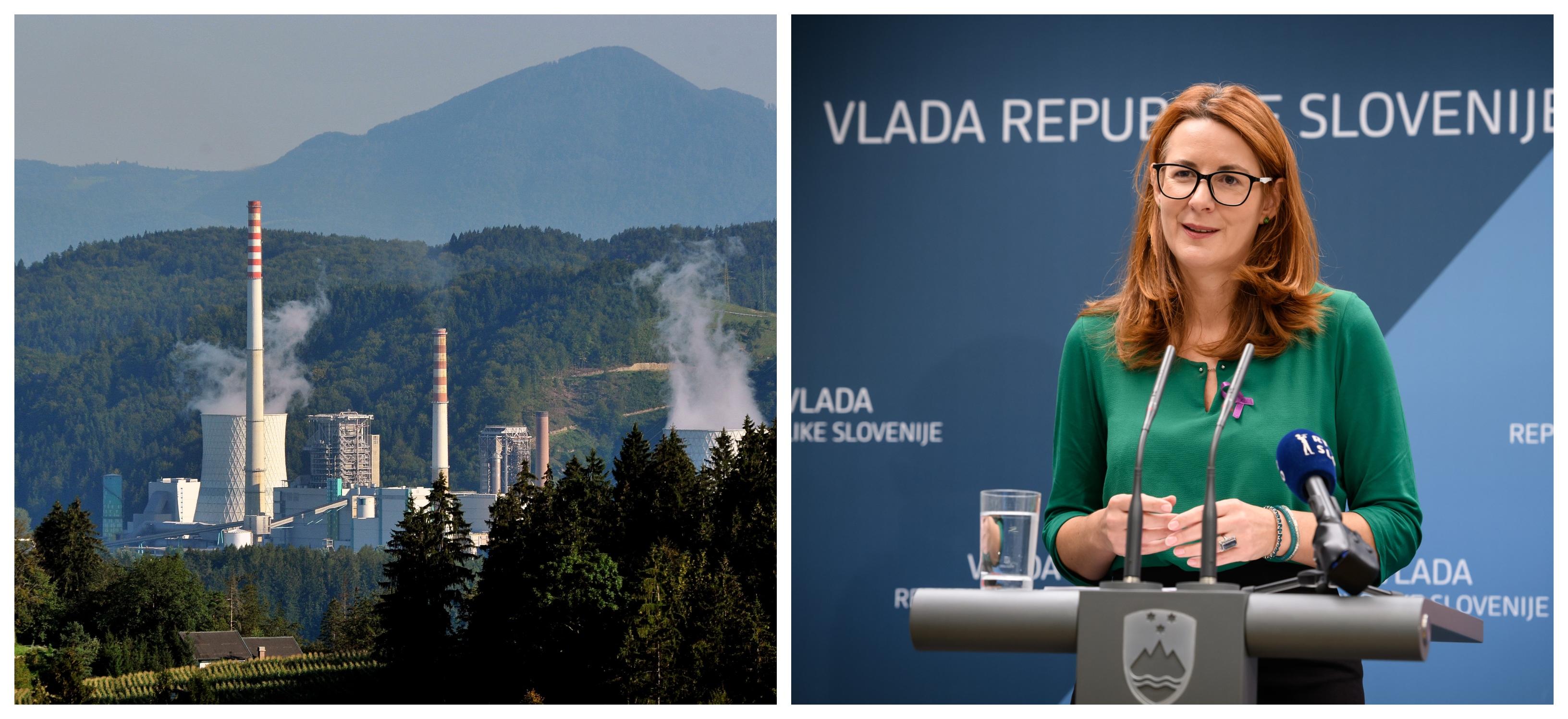 Sporni, škodljivi okoljski TEŠ 6 in aktualna pravosodna ministrica in dolgoletna vplivna članica t.i. Šaleškega lobija Andreja Katič (Foto: STA)
