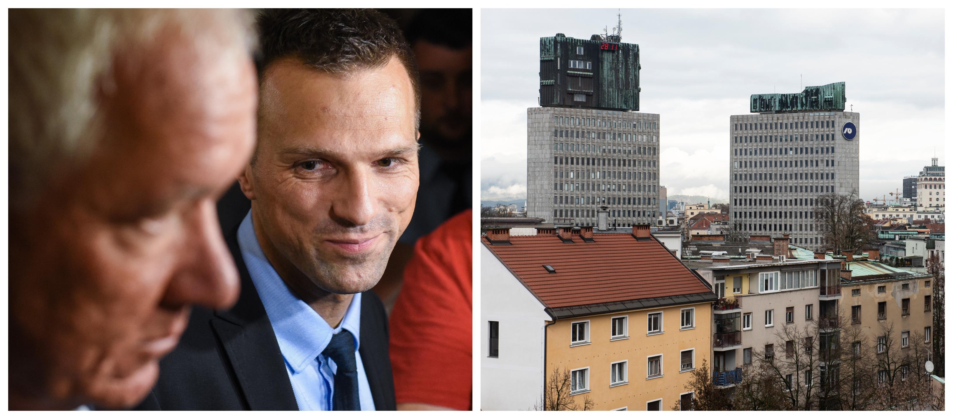 Glavni izvršni direktor DUTB Matej Pirc postaja glavna Šarčeva branjevka za gradnjo slovenskih stanovanj. (Foto: STA)