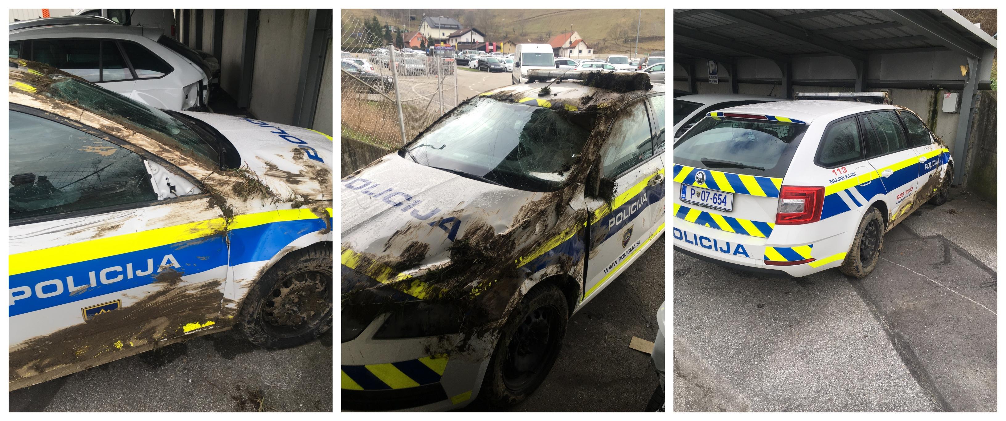 Policist iz Šentilja je zopet naredil slabo reklamo svojim kolegom v modrih uniformah. Zaradi neprilagojene hitrosti je povzročil nesrečo in skupaj s svojo policijsko kolegico moral iti na celjenje poškodb v mariborski UKC Maribor. (Foto: Bralec Nove24tv.si)