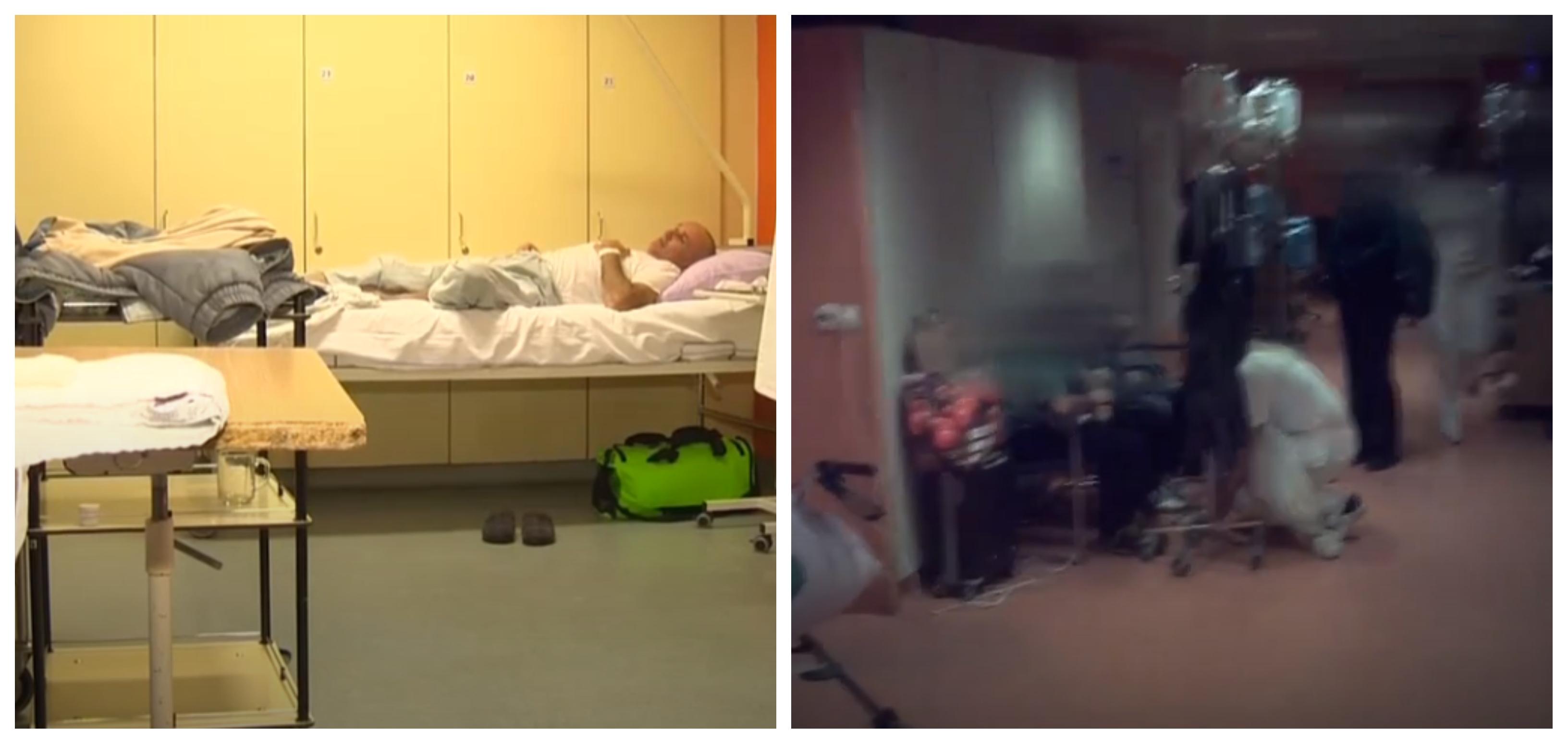 Zloglasna soba na hodniku in še ena kaotična slika v čakalnici in na hodnikih gastroenterloške klinike. (Foto: Tednik RTV SLO)