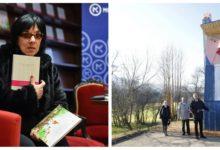 Svetlana Makarovič bo uprizorila novi marksistični kulturni dogek ob Kipu svobode v Moravčah. (Foto: STA/Facebook)