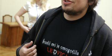 Jernej Štromajer s še enim provokativnim sporočilom iz preteklosti. (Foto: STA)