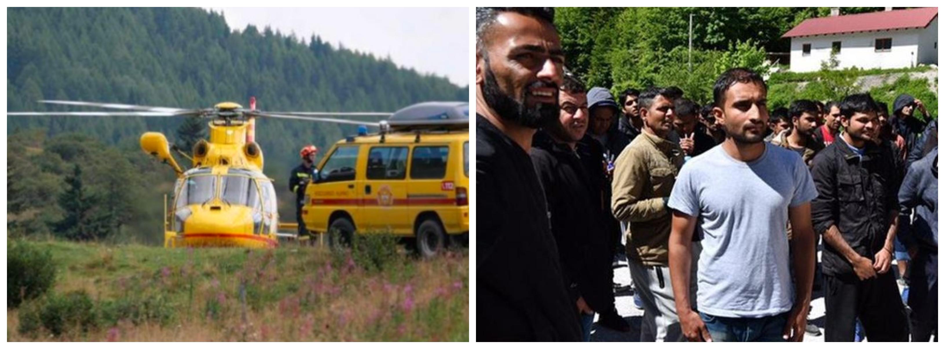 Na prizorišče nesreče prišel tudi helikopter. Druga slika je simbolna. (Foto: Facebook/ Twitter)