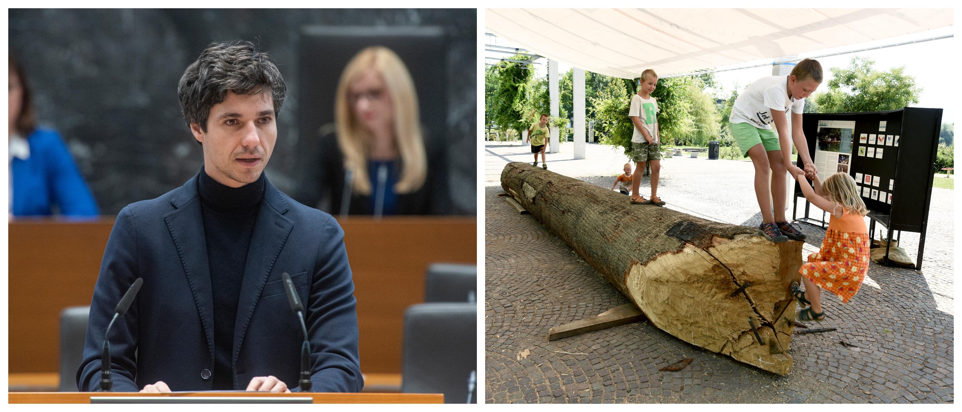 Luka Mesec je s svojim predlogom povišanje minimalne plače nekaterim slovenskim družinam znižal otroške dodatke in jim povišal cene vrtcev. (Foto: STA)