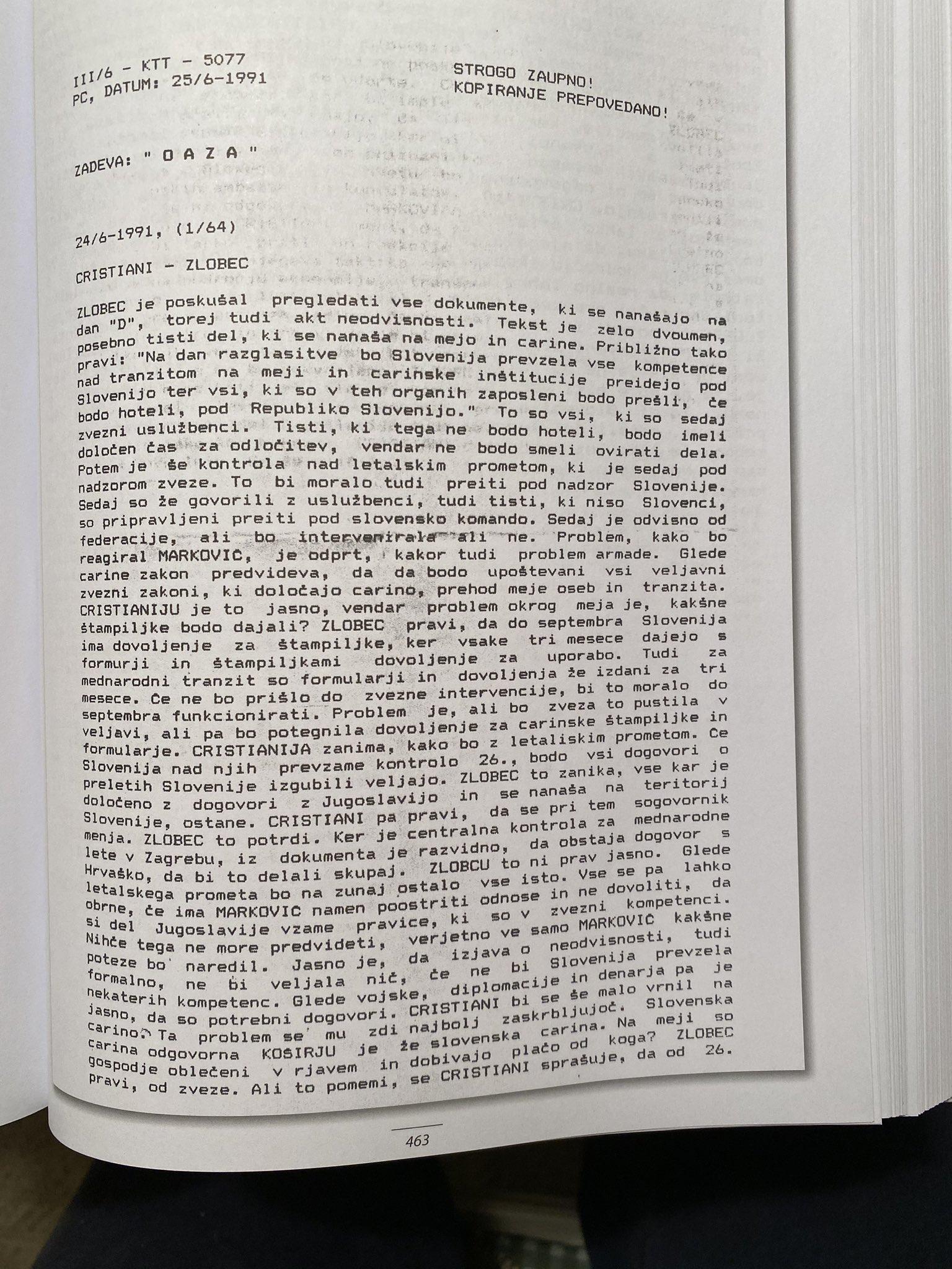 Dokument številka 3 razkriva vlogo Jurija in njegove obtožbe o izbrisu državljanov v RS. V tem dokumentu je jasno zapisano, da je vsak prebivalec Slovenije v osamosvojitvenih časih imel priložnost zaprositi za slovensko državljanstvo. (Foto: Twitter)