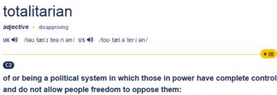 definicija totalitarizma