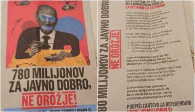 Letaki ki pozivajo k referendumu investiranja v vojsko Nova24TV
