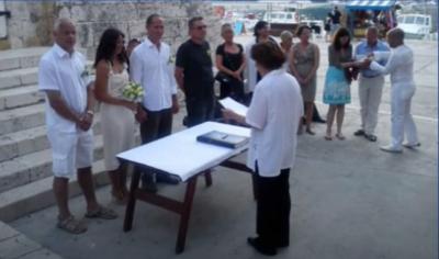 Poroka Jozeta P Damijana kjer je bil Drago Kos porocnas prica