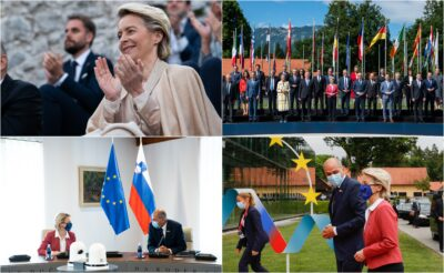 Utrinki prvega dneva slovenskega predsedovanja Foto Facebook Twitter